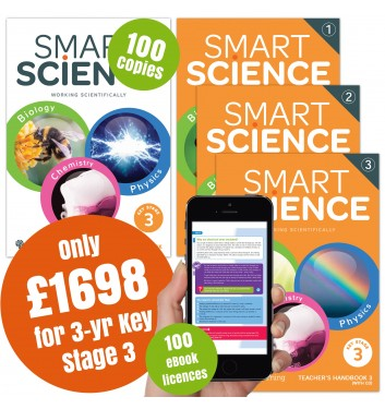 Smart Science Special Offer Pack - 3 year Key Stage 3 with eBook App
